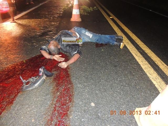 O homem atropelado trata-se de Manoel de Jesus Santos, 44 anos