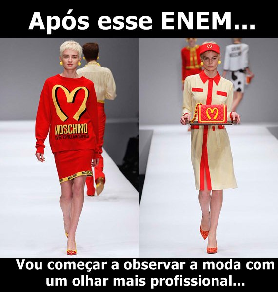 Meme sobre a expectativa do ENEM