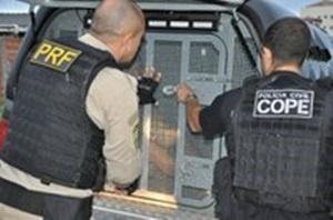 Operação da Polícia Rodoviária Federal e da Polícia Civil.