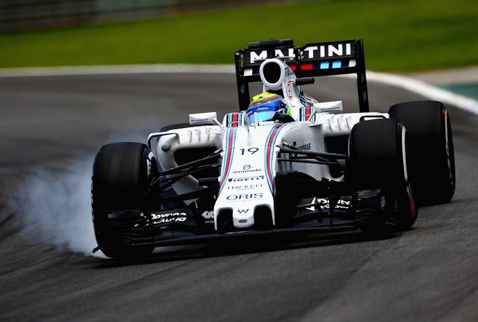 FIA identificou irregularidades no composto traseiro direito da Williams de Felipe Massa (Foto: Gett